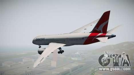Boeing 787-8 Qantas for GTA San Andreas right view