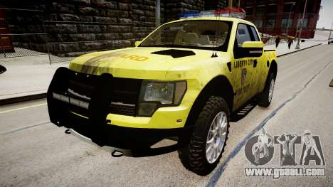 Ford Raptor SVT Department Lifeguard for GTA 4 right view