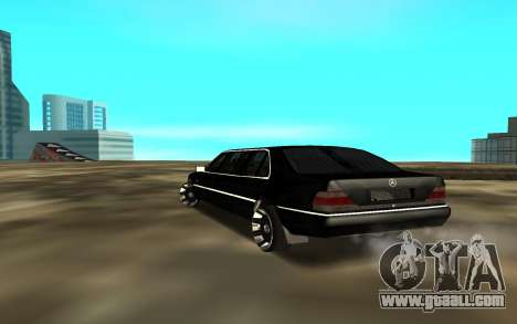 Mercedes-Benz s600 w140 for GTA San Andreas back left view