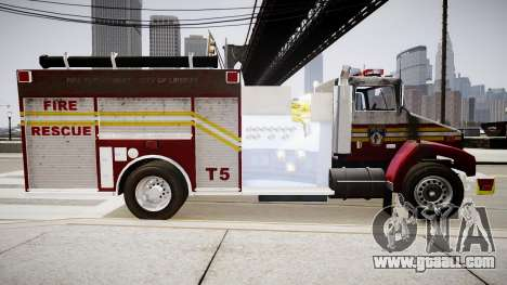 New fire truck T5 for GTA 4