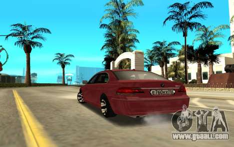 BMW 750 for GTA San Andreas back left view