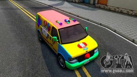 GTA V Vapid Clown Van for GTA San Andreas right view