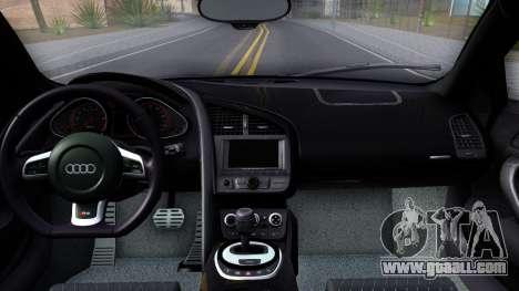Audi R8 5.2 FSI quattro 2010 for GTA San Andreas inner view