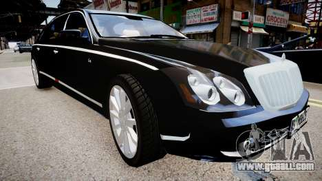 Maybach 62 S 2009 for GTA 4 right view