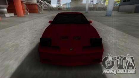 Pontiac Trans AM for GTA San Andreas back view