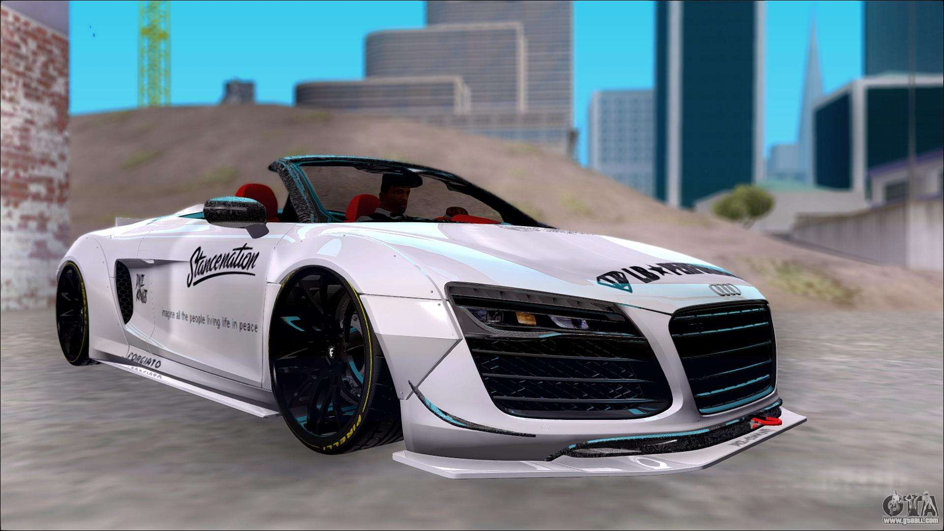 audi r8 spyder 5 2 v10 plus lb walk dice for gta san andreas. Black Bedroom Furniture Sets. Home Design Ideas