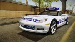 Chevrolet Corvette C6 Serbian Police for GTA San Andreas
