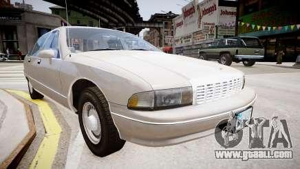 Chevrolet Caprice Civilian 1991 for GTA 4