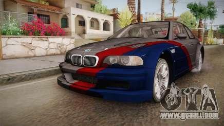 NFS: MW - BMW M3 GTR (E46) Hidden Vinyl Version for GTA San Andreas