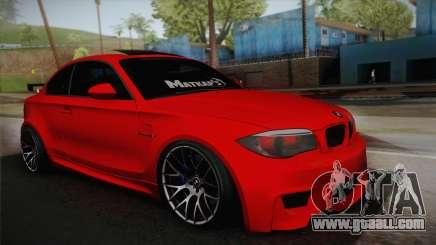 BMW M1 E82 for GTA San Andreas