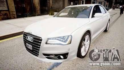 Audi S8 2013 for GTA 4