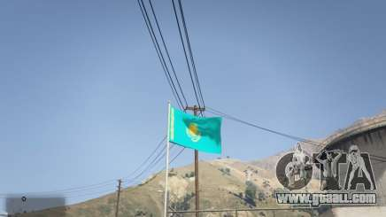 The Flag Of Kazakhstan for GTA 5