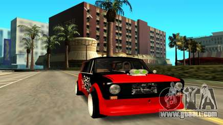 VAZ 2102 red for GTA San Andreas