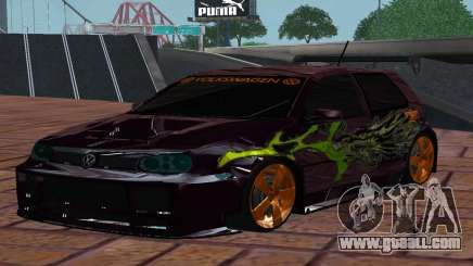 VOLKSWAGEN GOLF GTI LIGHT TUNING for GTA San Andreas