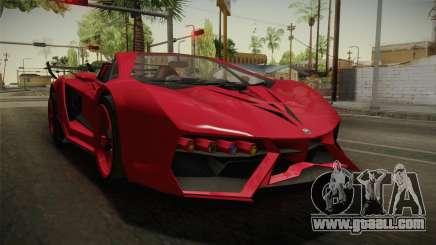 GTA 5 Pegassi Lampo Roadster for GTA San Andreas