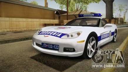 Chevrolet Corvette C6 Serbian Police for GTA San Andreas