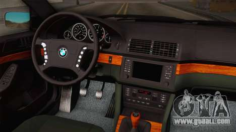 BMW 530i E39 for GTA San Andreas inner view