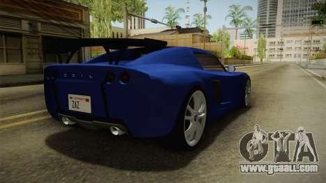 GTA 5 Voltic for GTA San Andreas back left view