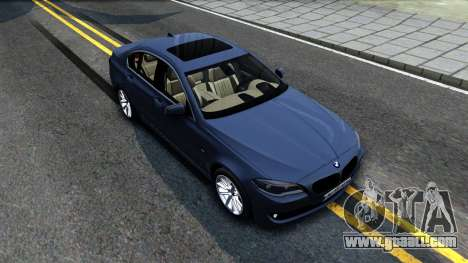 BMW 520d F10 2012 for GTA San Andreas right view