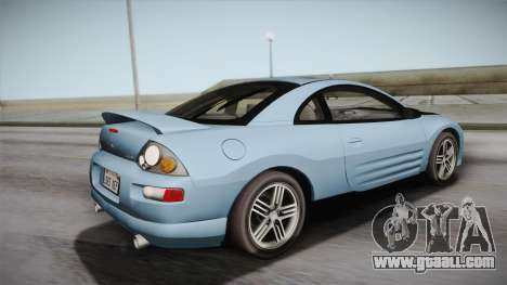 Mitsubishi Eclipse GTS Mk.III 2003 HQLM for GTA San Andreas left view