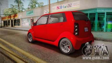 GTA 5 Benefactor Panto 4-doors for GTA San Andreas left view