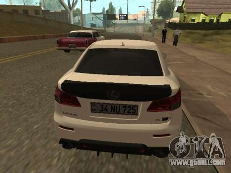 Lexus IS F Armenian for GTA San Andreas inner view