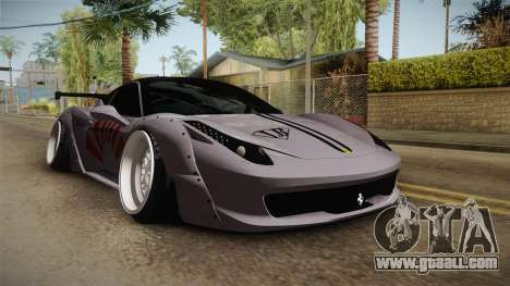 Ferrari 458 Liberty Walk Performance for GTA San Andreas right view