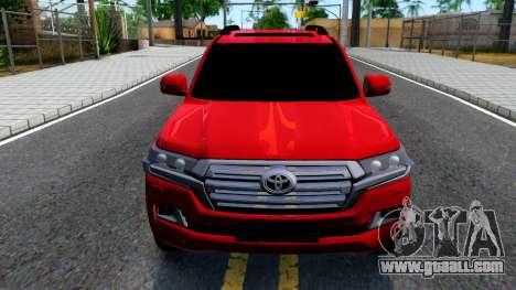 Toyota Land Cruiser 2016 for GTA San Andreas inner view