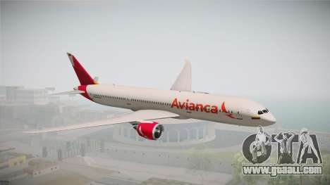 Boeing 787 Avianca for GTA San Andreas back left view