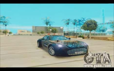 Aston Martin One 77 for GTA San Andreas