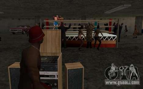 Illegal Boxing tournament V2.0 for GTA San Andreas third screenshot