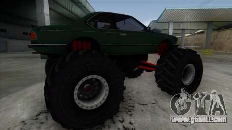 1984 BMW M6 E24 Monster Truck for GTA San Andreas left view