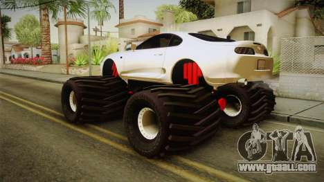 Toyota Supra Monster Truck for GTA San Andreas left view