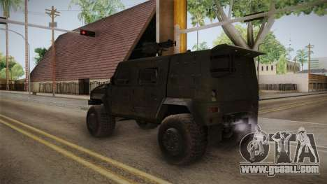Iveco Lince LMV for GTA San Andreas back left view