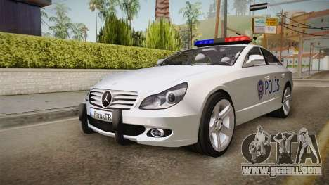 Mercedes-Benz CLS 500 Turkish Police for GTA San Andreas right view