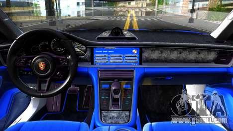 Porsche Panamera 4S 2017 v 5.0 for GTA San Andreas inner view