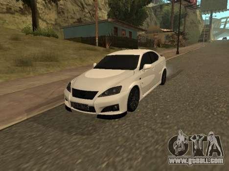 Lexus IS F Armenian for GTA San Andreas