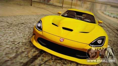 Dodge Viper SRT 2013 for GTA San Andreas right view