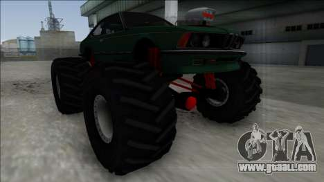 1984 BMW M6 E24 Monster Truck for GTA San Andreas right view