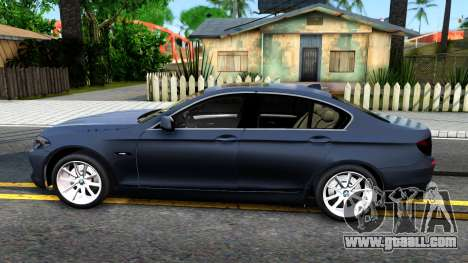 BMW 520d F10 2012 for GTA San Andreas left view