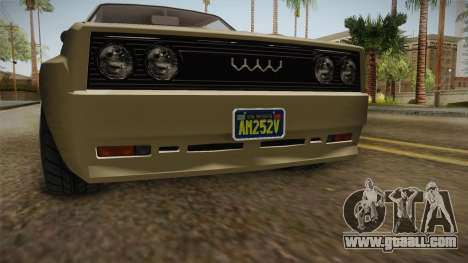 GTA 5 Obey Omnis Normal IVF for GTA San Andreas inner view