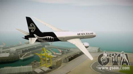 Boeing 787 Air New Zealand White Edition for GTA San Andreas right view