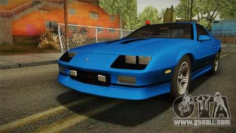 Chevrolet Camaro IROC-Z FBI 1990 for GTA San Andreas