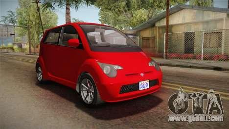 GTA 5 Benefactor Panto 4-doors for GTA San Andreas right view