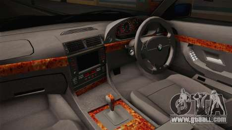 BMW 730d E38 for GTA San Andreas inner view