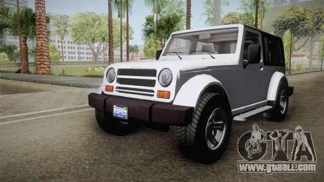 GTA 5 Canis Mesa SWB for GTA San Andreas