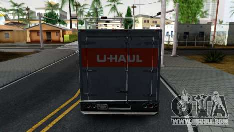 Ford F-350 U-Haul 1971 v1.1 for GTA San Andreas back left view