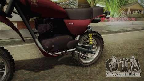GTA 5 Dinka Enduro for GTA San Andreas back view