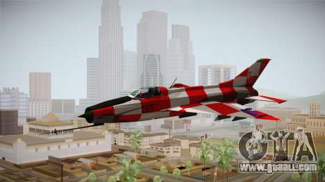 MIG-21 Kockica for GTA San Andreas back left view