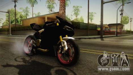 Ducati 1299 Panigale S 2016 Anniversary for GTA San Andreas back left view